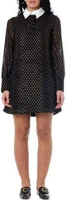 Frankie Morello Black Glittered Shirt Dress