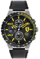 Ferrari Men's Chronograph Speciale Evo Chrono Black Leather Strap Watch 45mm 0830360