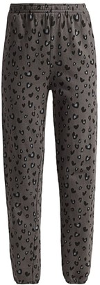 Monrow Heart Leopard Sweatpants
