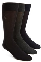 Polo Ralph Lauren Men's Assorted 3-Pack Supersoft Socks