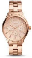 Fossil Modern Sophisticate Multifunction Rose Gold-Tone Stainless Steel Watch