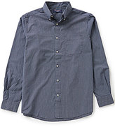 Roundtree & Yorke Trim-Fit Long-Sleeve Stripe Sportshirt
