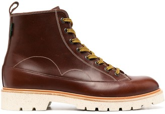 Paul Smith Lace-Up Leather Boots