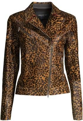 Lafayette 148 New York Vernice Cheetah-Print Calf-Hair Jacket