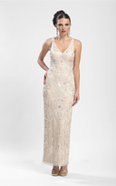 Sue Wong Sleeveless V Neck Long Gown N3502