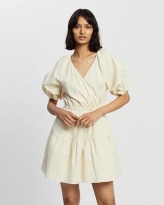 Camilla And Marc Vega Check Mini Wrap Dress