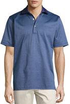 Peter Millar Wink Jacquard Cotton Lisle Polo Shirt