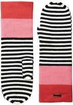 Kate Spade Color Block Stripe Mitten Extreme Cold Weather Gloves