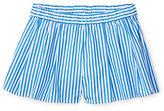 Ralph Lauren Girls 2-6x Bengal Pleated Cotton Shorts
