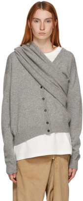 Bless Grey Extended Cashmere Cardigan