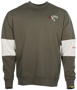 Puma X Randomevent Crew Black) Men's Clothing
