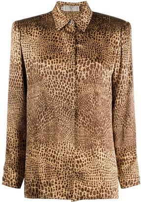 Valentino Pre-Owned 2000s Snakeskin Print Shirt