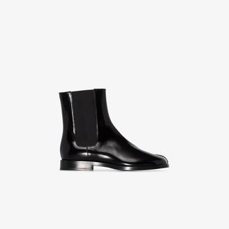Maison Margiela Black Tabi patent leather boots