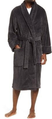 Nordstrom Chevron Texture Fleece Robe