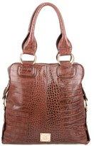 M Missoni Embossed Leather Satchel