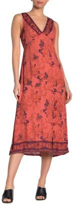 Angie Floral V-Neck Sleeveless Maxi Dress