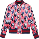 Gucci GG Wallpaper print duchesse bomber - women - Silk - 38
