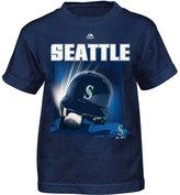 Majestic Little Boys' Seattle Mariners Kinetic Helmet T-Shirt