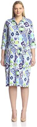Melissa Masse Plus Women's Shirt Dress