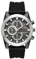Mossimo Men's Sport Textured Rubber Strap Watch Black