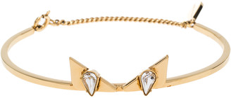Fendi Crystal Wonders Gold Tone Bracelet 17