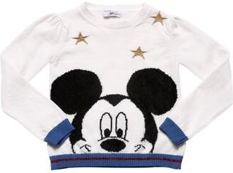 MonnaLisa Mickey Mouse Intarsia Wool Knit Sweater