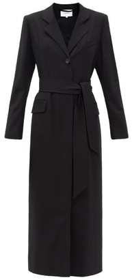 LA COLLECTION Modesty Wool-blend Maxi Dress - Black
