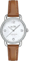 Coach 14502485 Delancey leather and mother-of-pearl watch