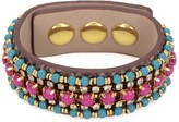 Juicy Couture Beaded Leather Snake Wrap Bracelet