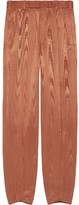 Gucci moire straight-leg trousers