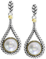 Effy Balissima by Cultured Freshwater Pearl Teardrop Earrings in 18k Gold and Sterling Silver (8mm)