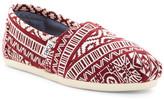 Toms Classic Oxblood Knit Slip-On Shoe - Wide Width