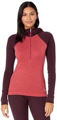 Smartwool Merino 250 Base Layer 1/2 Zip Hoodie (Masala Heather) Women's Clothing