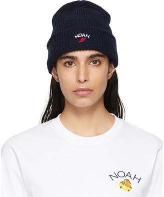 Noah NYC Navy Wing Foot Beanie