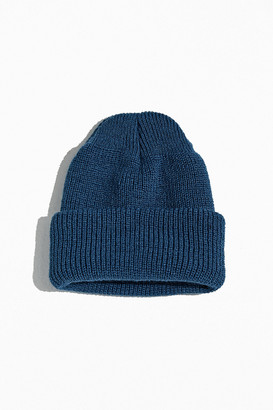 Urban Outfitters Short Roll Knit Block Beanie