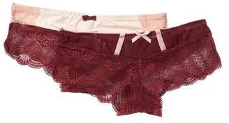 SECRET LACE Assorted Contrasting Lace Panties - Set of 2