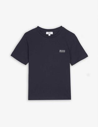 HUGO BOSS Embroidered logo cotton T-shirt 4-16 years