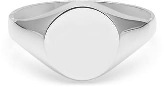 Myia Bonner 9K White Gold Round Signet Ring