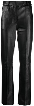 Frenken Leather Slim Fit Trousers