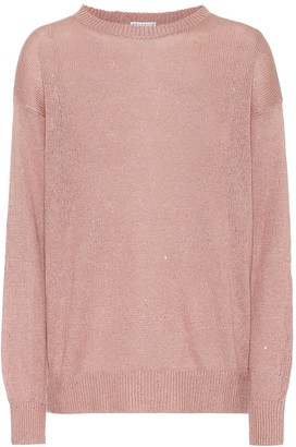 Brunello Cucinelli Exclusive to Mytheresa Sequined linen and silk sweater