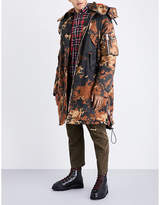 Dsquared2 Camouflage cotton parka jacket