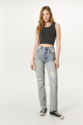 BDG Pax Ripped Straight Leg Jeans - Blue 30W 32L at Urban Outfitters