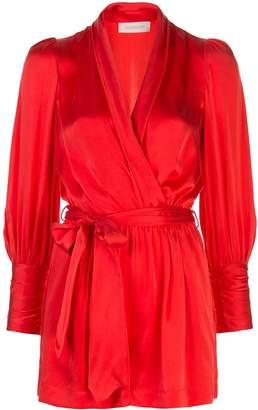 Zimmermann wrap front silk dress