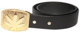 Lucien Pellat-Finet Gold Leaf Buckle Belt