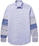 Loewe - Slim-fit Patchwork Cotton-poplin Shirt
