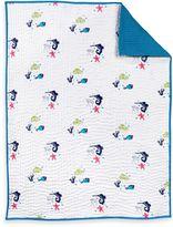 Nurseryworks Nursery Works Wee Gallery Organic Cotton Oceanography Layered Quilted Muslin Blanket