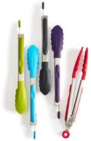 """Sur La Table Silicone-Tipped Stainless Steel Locking Tongs, 9"""""""