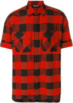 Neil Barrett Live and Let Live checked shirt