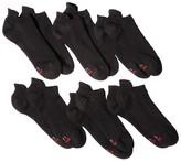 Hanes Premium Men's 6pk No-Show Lightweight Socks with Heel Shield - Assorted Colors