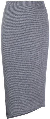 Theory Rib Knit Asymmetric Skirt